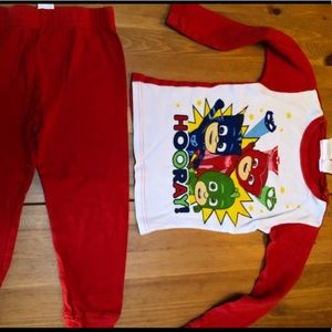 Other - Pj Masks red and white Pajamas 5t